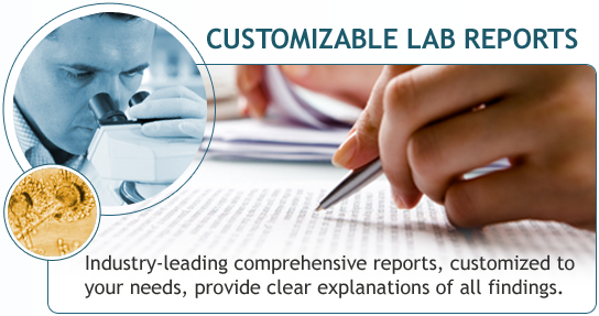 CUSTOMIZABLE LAB REPORTS