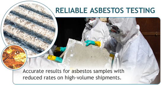 Accurate results for asbestos samples with reduced rates on high-volume shipments.